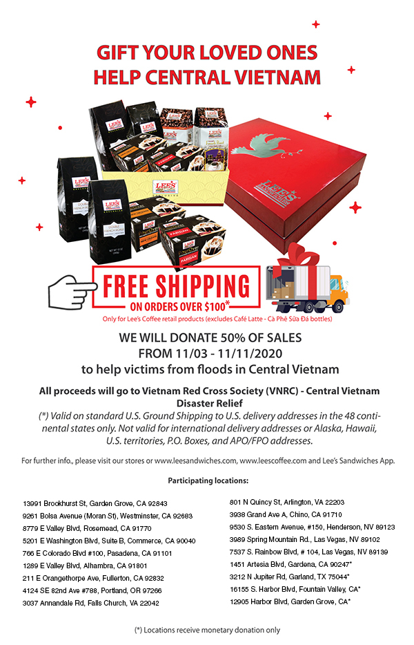 Gift your loved ones, help Central Vietnam! Free Shipping for coffee orders over $100
