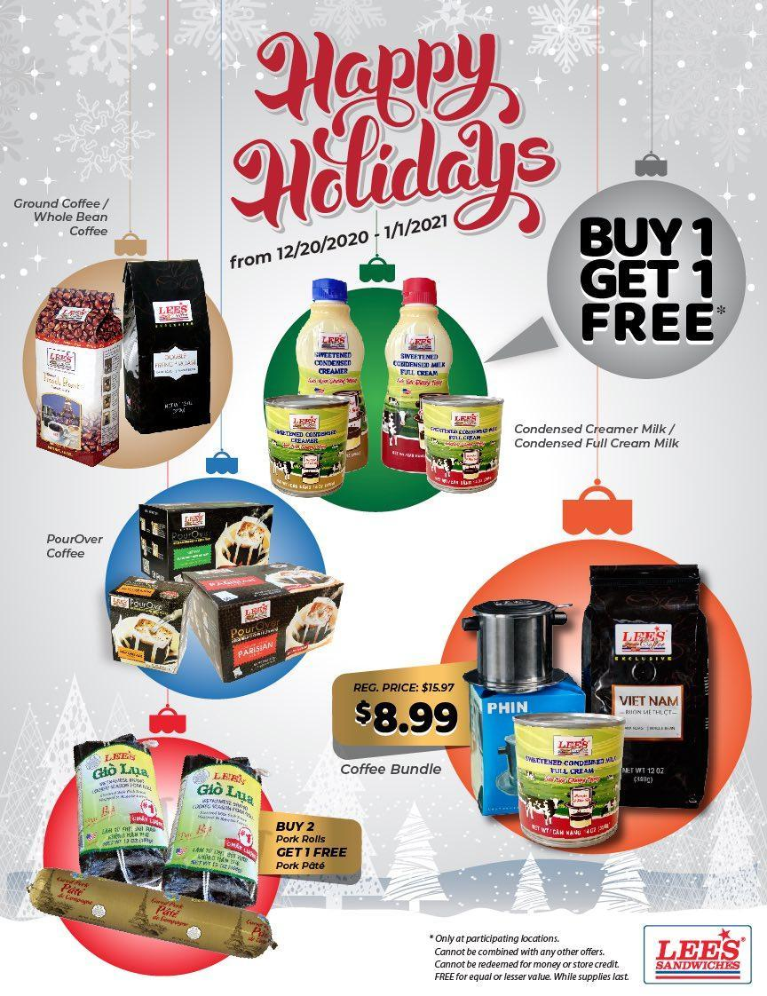 Enjoy our Happy Holiday great deals from 12/20/2020 - 1/1/2021 at participating locations!