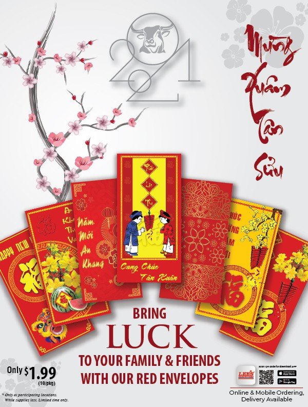 Bring Luck to your Family & Friends with our Red Envelope