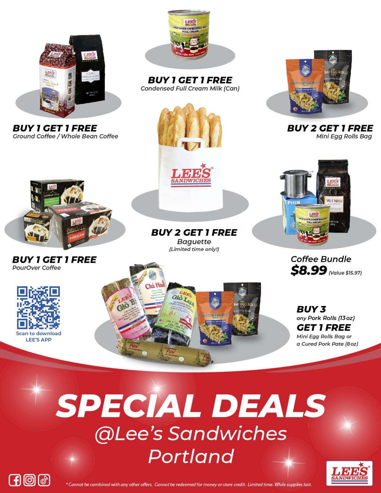 Special Deals only at Portland from 5/17/2021! Limited Time! While Supplies Last!